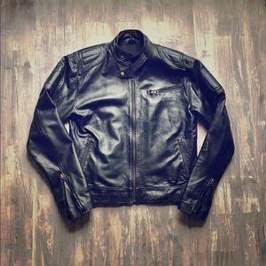 Other - Black Leather Motorcycle Jacket